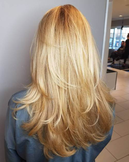Very long cut with all layers
