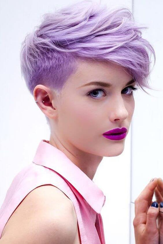The dreamy, purple pixie for the millennial