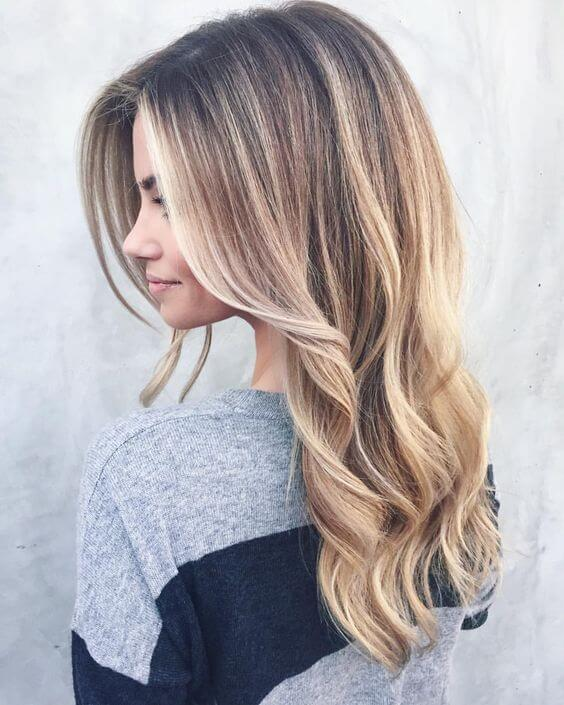Beautiful golden ombre with tons of volume