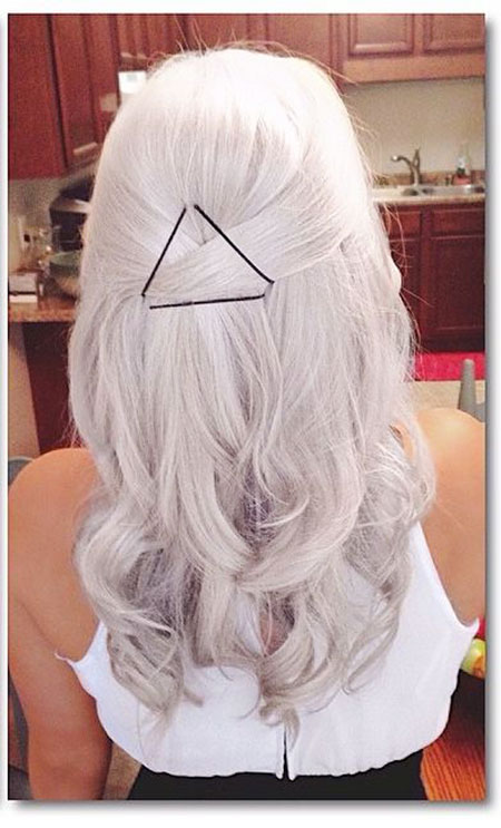 White Blonde Silver Pink View Platinum Back