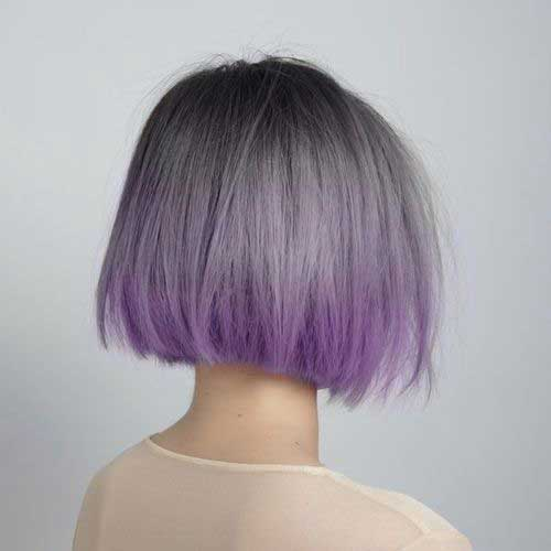 Purple ombre short dull hair