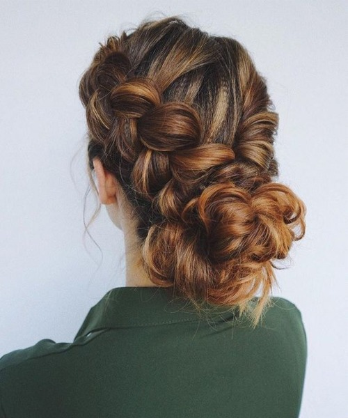 Best braided updos for women with long, thick hair