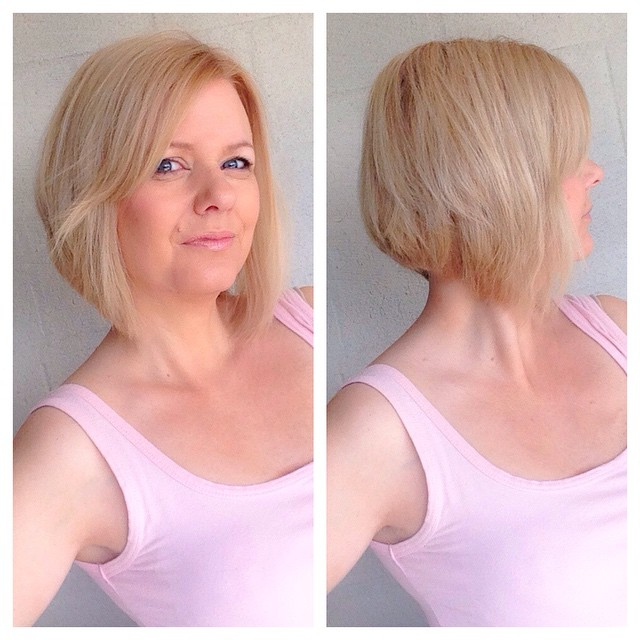 Short Graduated Bob Hairstyle for older women over 50