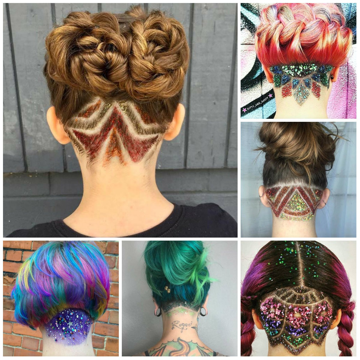 Fat glitter undercut hairstyles for 2018