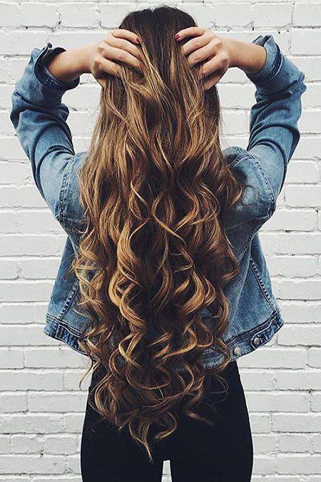 Long Curls Wedding Prom Ombre Highlights Curly