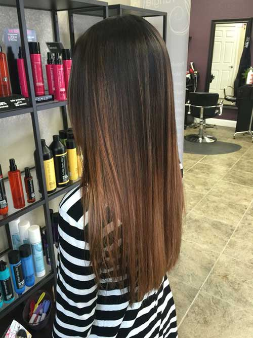 Best straight long hairstyles