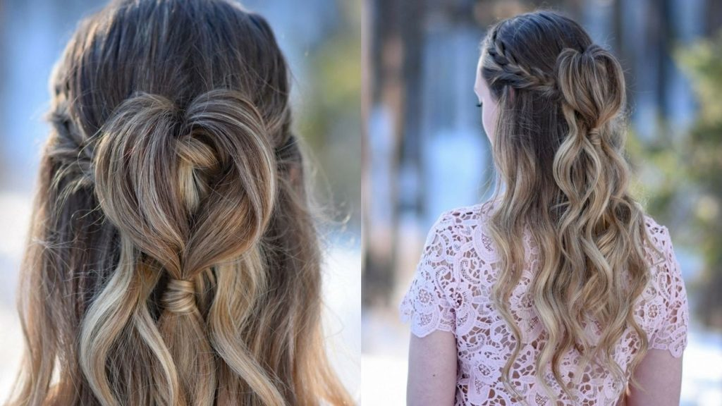 Simple Half Up Hairstyle Ideas For Valentine's Day Dinner
