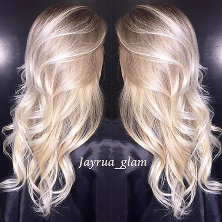 Blonde Balayage Ombre highlights up long