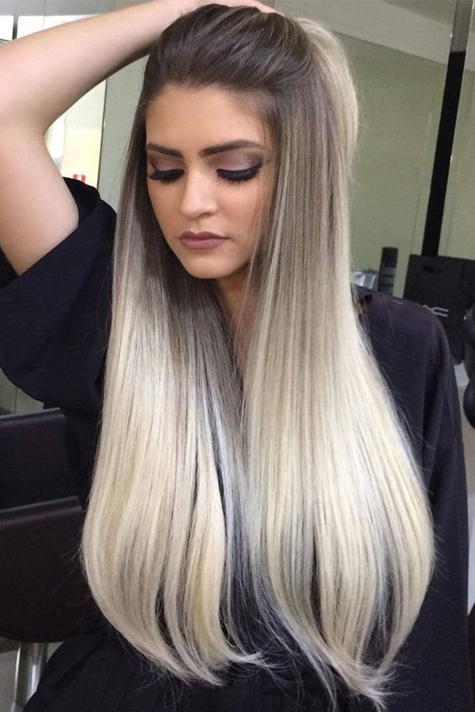 Ultra Glam Black and White Ombre