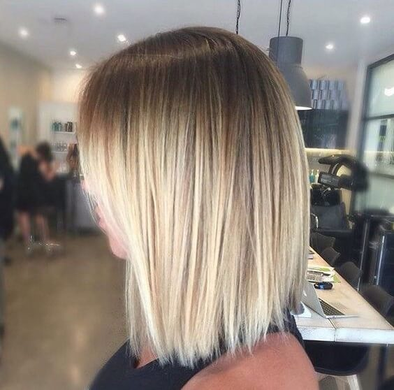 Blunt Blonde Bob with ombre hair color