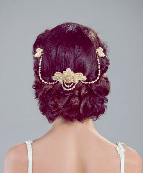 elegant headdress wedding hairstyles for long hair