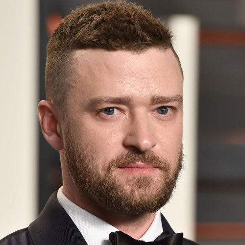 Justin Timberlake Beard - High Fade + Crew Cut