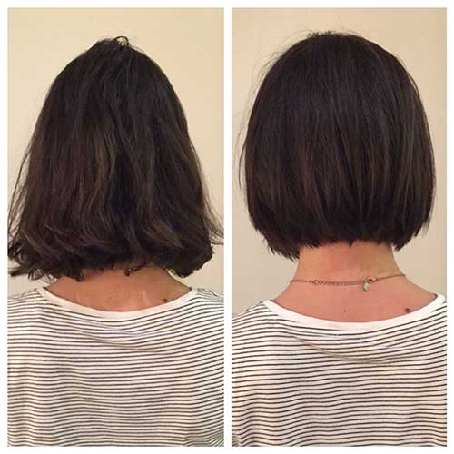 Long too short Blunt Bob hair