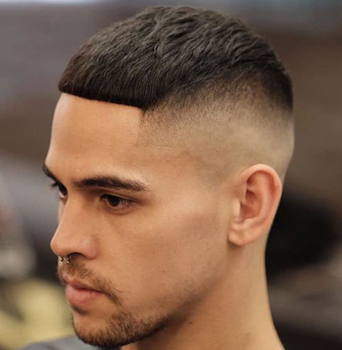 Skin fade with firm fringes