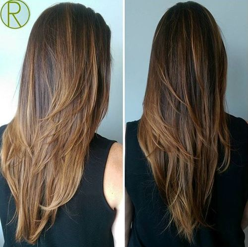 Fine texture hairstyle for long hair