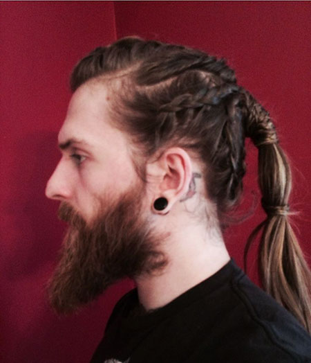 Viking hair, ponytail, trend, side, pony, men, men