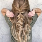 13+ Large Half Fishtail braids on long, silky hair for an amazing look
