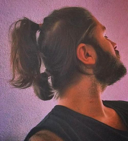 Modern Hair, Ponytail, Up, Two, Sport, Ponytail, Multi, Men