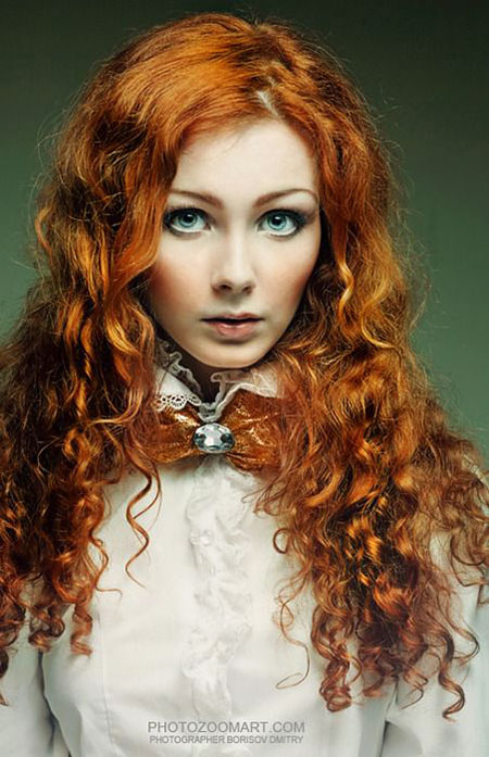 Red Curly Green Eyes Sexy Redheads Merida Top