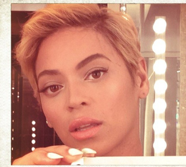 Beyonce short hairstyle for the summer