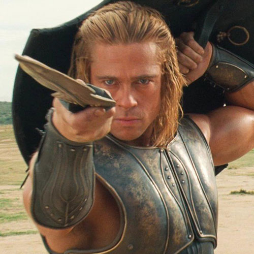 Brad Pitts Hair - Troy Hairstyle