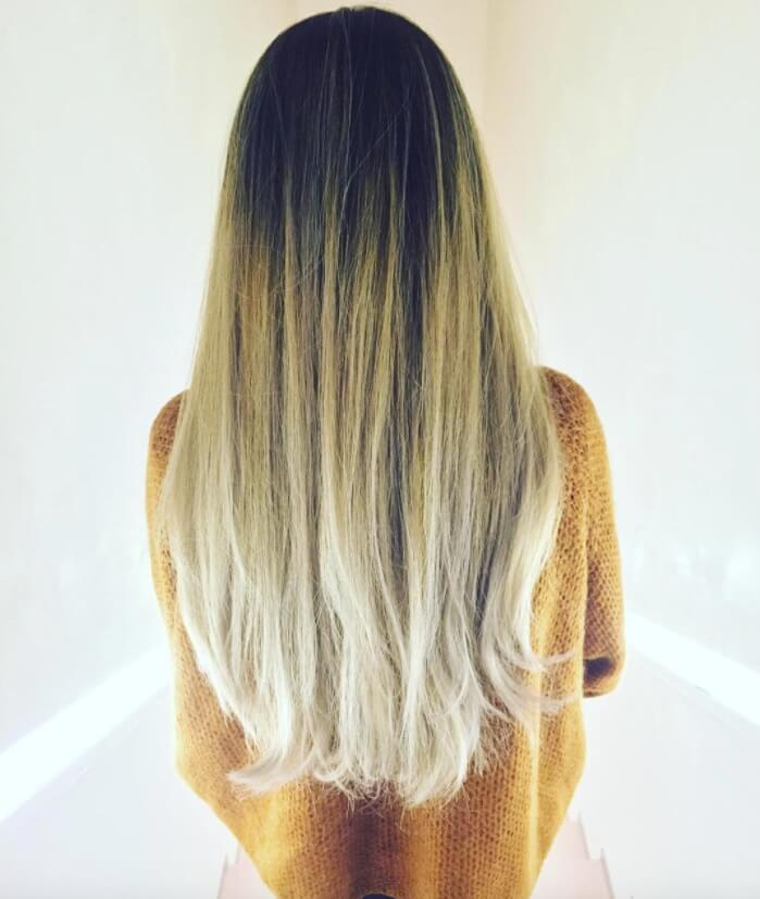 Modern and unique hair color