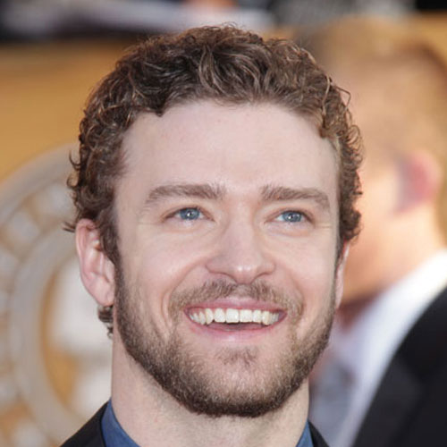 Justin Timberlake curly head