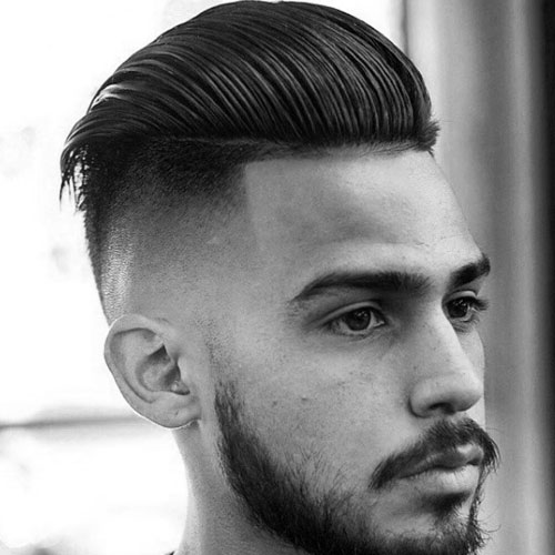 High Skin Fade with long, straight back hair