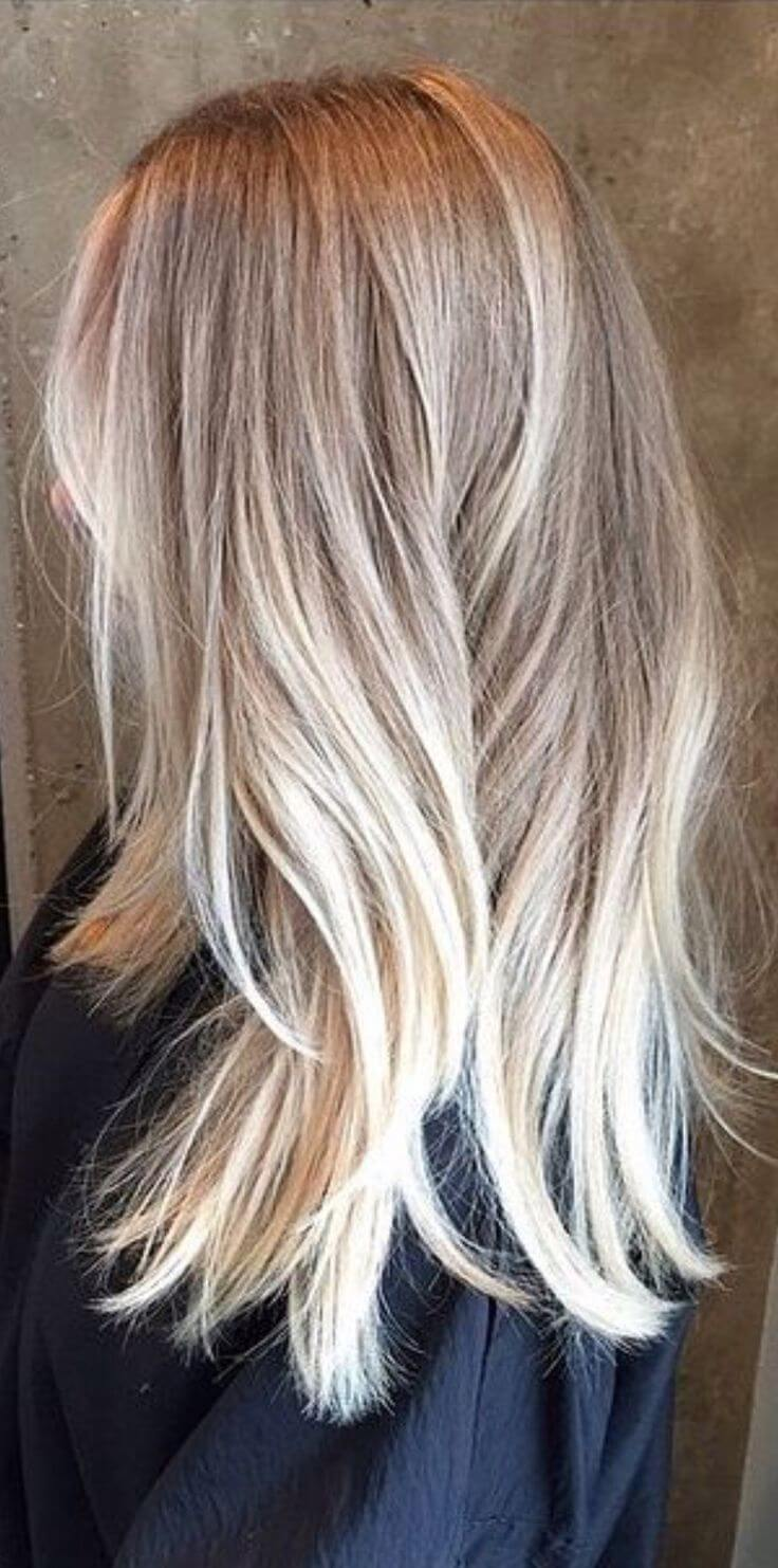 the perfect ombre blond hair
