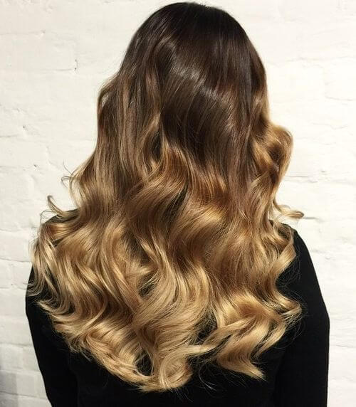 springy and voluminous Warm Ombre Curls