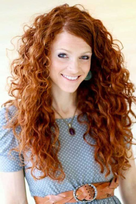 curly long red merida curls