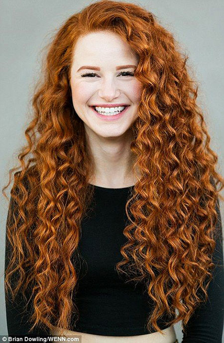 Curly Red Women White Natural Merida Lace Girl