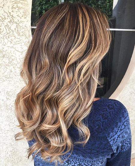 Balayage Brown Ombre highlights caramel lighthead