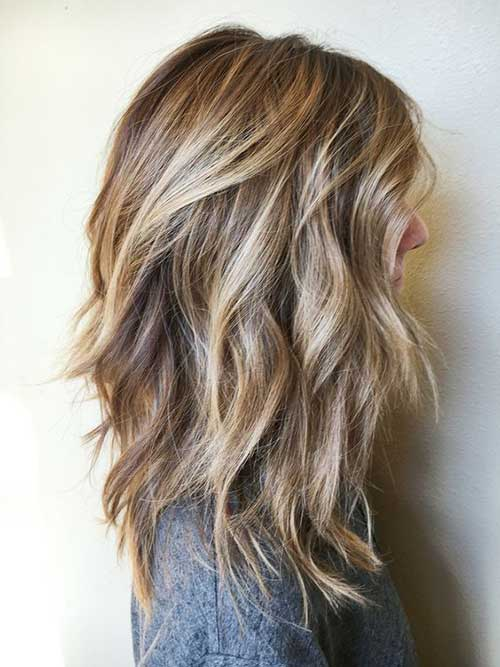 Layered long hairstyles
