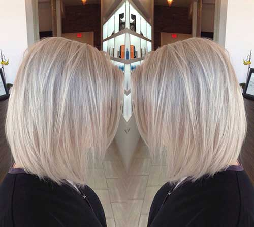 Ash blond on platinum hair