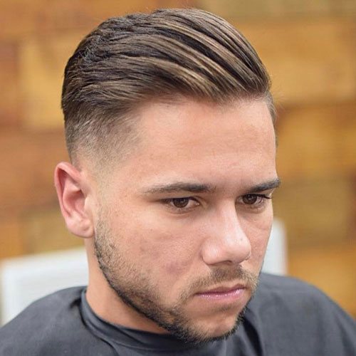 Undercut with structured brush back and beard