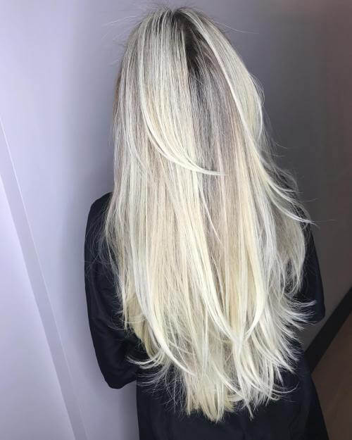 Simple and straight long layered haircut