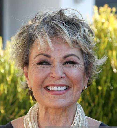 Short haircuts for older women-36