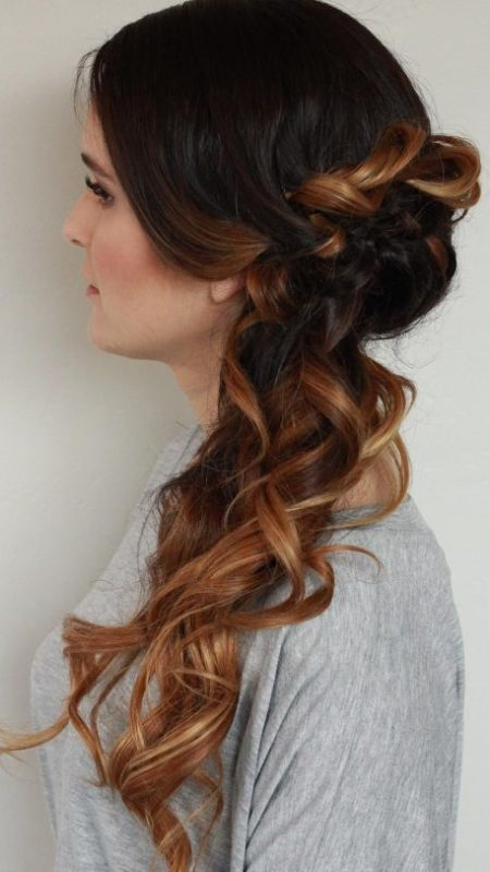 Brunette Ombre Upstyle