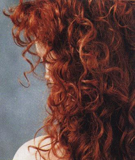 Red curly long curls Anna