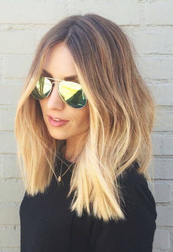 Textured strawberry blond ombre