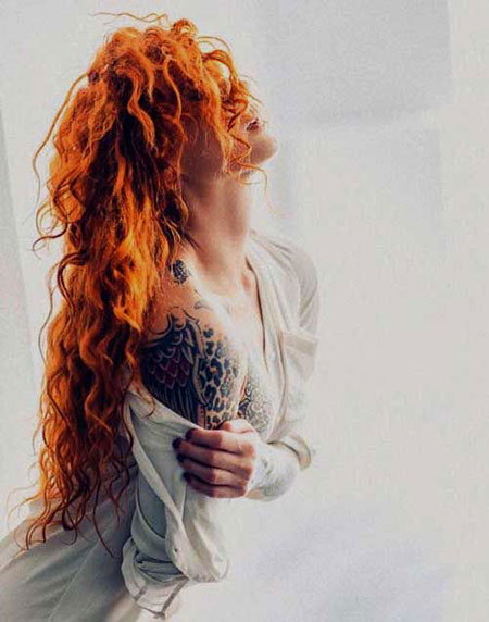 Red Curly Trendy Redheads Long Curly Hair