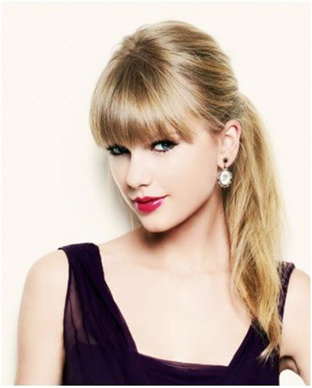Taylor Swift Simply Straight Taylor Swift Straight Pony Simple P