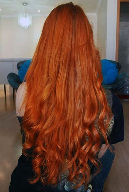 Red Curly Redheads Ombre Long Head Copper