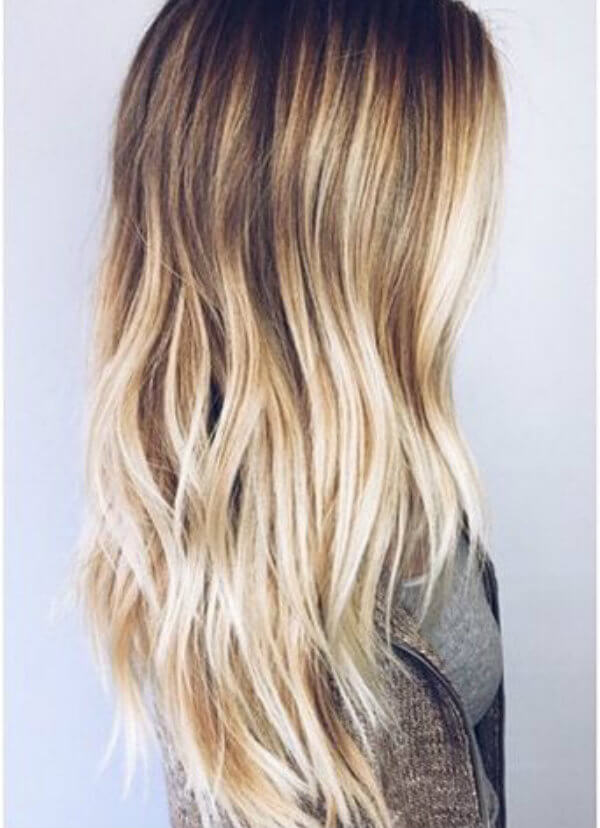 A Flirty Beach Wave Ombre Hairstyle