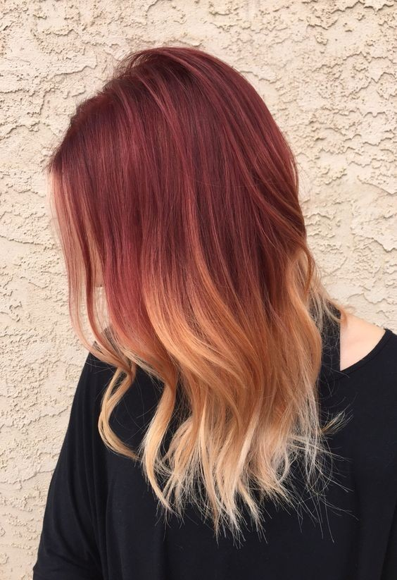 Hottest Red Ombre Hair Ideas for Short, Medium and Long Hair