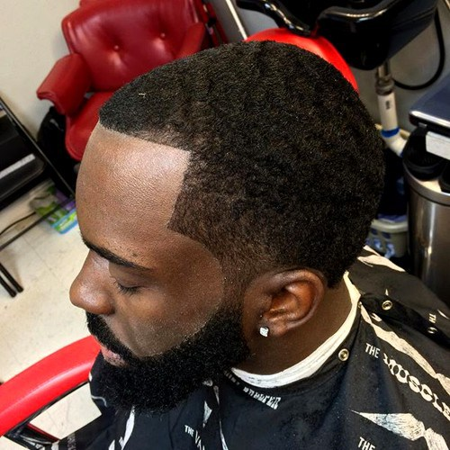 Temp Fade and Line Up with beard