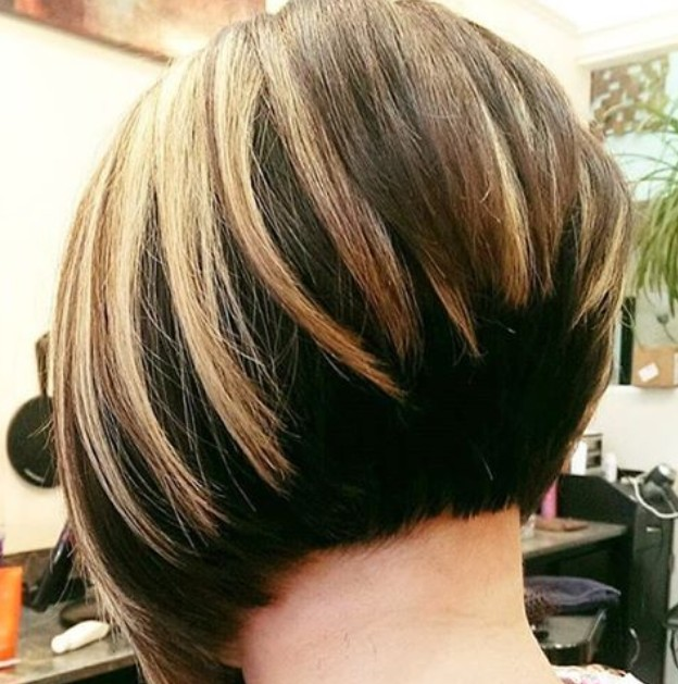 Rear view of graduated bob hairstyles