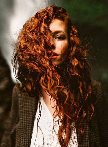 Ginger Curly Redheads Red Miller Merida Lord girl's simplest curls