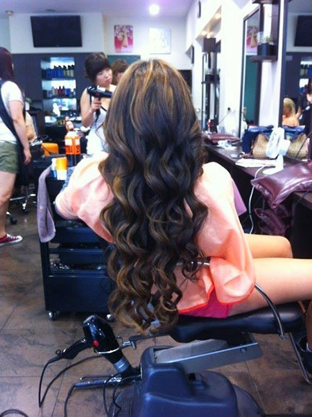 Prom Long Curly Wedding Wavy Updo Short Curly 40's
